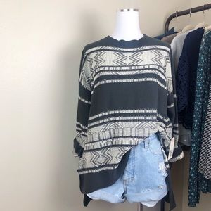 NWT Billabong Tidal Mirage Oversized Sweater